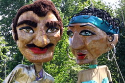 Giant Puppets in Kids' Area - �Glyn Phillips