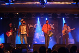 Daniel harris Coolik(Bass Guitar) Zydeco Mike (Vocals & Rubboard),Cedric Watson(Vocals,Accordion,Fiddle),  & Bijou Creole band